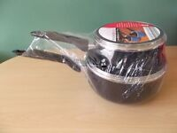 Kitchen Collection Black 2-Piece Saucepan Set NEW aldi, cookware, cooking