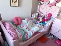 IKEA BUSUNGE RANGE Light Pink Bed, Wardrobe and Chest of Draws