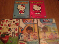 Young Girl's dvd collection, hello Kitty, Charlie and Lola etc