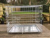 2 Door Folding Dog Crate for small to medium sized dog - used once only
