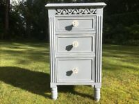 Hand painted bedside drawers in french grey