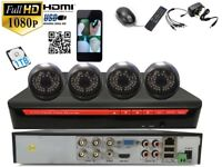 4 full HD 2.4 M pixel Sony Cameras 4Ch AHD 1080 CCTV with 1 TB HDD System Plug &Play P2Psystem
