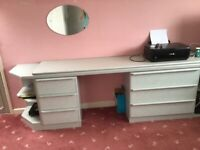 Bedroom dressing table and drawers - FREE
