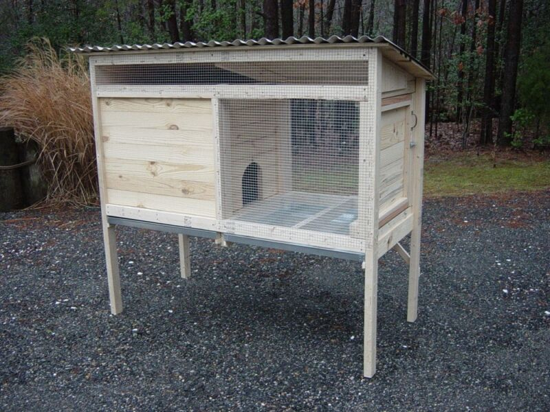Woodworking Plans for a 5 ft. Rabbit Hutch - CD via Mail