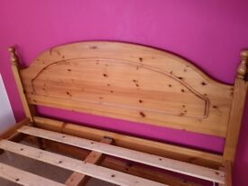 Pine double bed frame ##reduced to go##