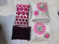 4 lovely pink purple cushions
