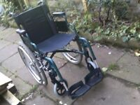 SELF PROPEL FOLDING WHEELCHAIR IS LIGHTWEIGHT CAN DELIVER