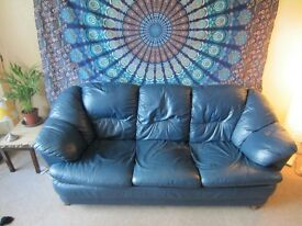 sofa 3 seater blue