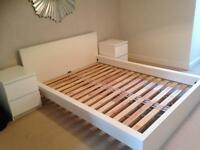 Ikea double bed and bedside draws
