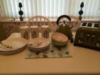 Kettle toasters storage jars and dining set