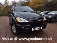 2007 Ssangyong Kyron SE 2.0XDi M200 4WD Diesel*FSH*Full leather*Climate*Air con*Park aid*Bluetooth*