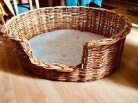 Rattan Wicker Dog Basket, Large