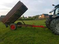 Tractor tipping trailer ideal for stables etc