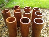 Clay drainage pipes