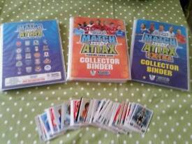 Topps match attax football cards and binders.