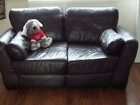 Brown 3 piece suite a 2 seater sofa and 2 armchairs