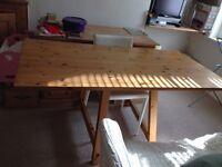 DINING TRESTLE ROOM TABLE Vintage Habitat