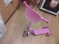 Child's Pink Scooter
