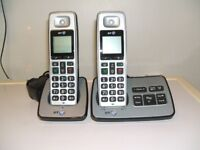 Twin BT Cordless Hands Free Telephones with Answering Machine
