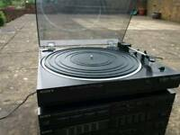 Sony stero radio record player and double tape