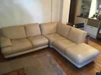 White 5 seater leather sofa - quick sale - good condition - pick up tonight