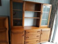 Ercol sold wood wall unit good condition