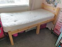single mattress and shorty single bed frame