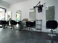 TWO SALON CHAIRS AVAILABLE FOR RENT AND BEAUTY ROOM IN SALON ON BUSY HIGH STREET