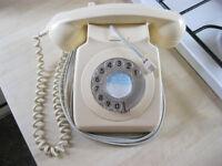 IVORY / CREAM Vintage Retro Rotary Dial BT Phone 8746G DFM 82/2