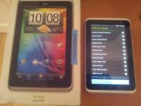"""HTC Flyer 32GB, Wi-Fi 7 & 3G"""" Silver and White Tablet"""