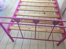 Pink Single bed frame from Next