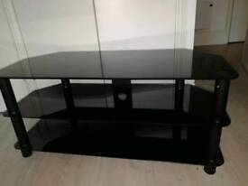Great black glass tv stand