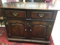 Oak side cupboard 18th C style