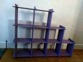 Purple shelves