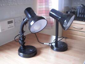 """"""" black metal desk lights"""