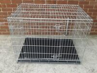 Dog cages, quality, galvanised, 1, X Large, 1, Large, and 1, Medium, all like new.