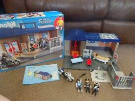 Playmobil Boxed As New Complete with Instructions Playmobil Play Set Police Station complete gift