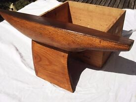 OLD SOLID PINE POND YACHT HULL - VERY ORNATE - BEAUTIFUL ITEM - L@@K