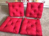 4 x Ikea RED Dining Table Chair Seat Cushions NEW ! Cost £4.50 Each..