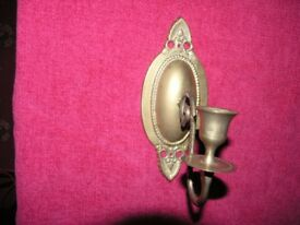 Brass Decorative Wall Candleholder Weymouth