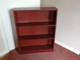Book Case Shelf Unit in Mahogany Effect Size: H83cm x W65cm x D16cm