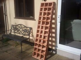 """BRAND NEW (BARGAIN)TREATED GARDEN TRELLIS X 4 PIECES 6FT X 1ft 6"""" COLLECTION FROM MALDON ESSEX"""