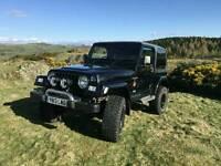 """2001 Jeep Wrangler Sahara. black. 4L manual. 3.5"""" lift Off Road"""