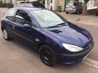 Peugeot 206 Look 1.1 1124cc Petrol 5 speed manual 3 door hatchback 02 Plate 01/06/2002 Blue