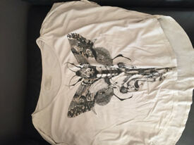 White All Saints T Shirt Size 12 **As new**