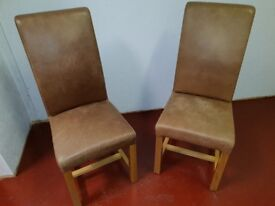 Two dining leather chars