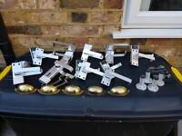 Silver door handles all in used condition