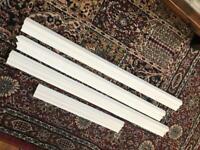 Leftover primed dado rail pieces