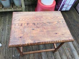Vintage barkey twist leg side table.
