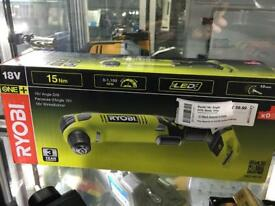 Ryobi RAD1801M 18v angle drill - New